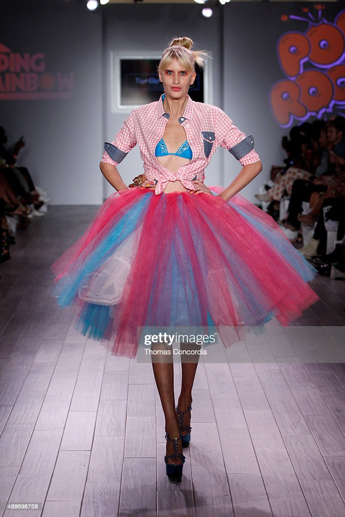 A model walks the runway during KIA STYLE360 hosts Tumbler and Tipsy by Michael Kuluva on September 16 2015 in New York City