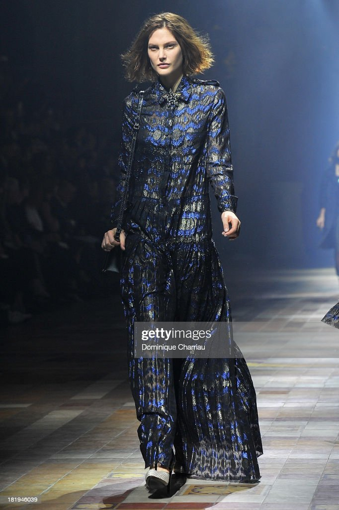 A model walks the runway during Lanvin show as part of the Paris Fashion Week Womenswear Spring/Summer 2014 on September 26, 2013 in Paris, France.