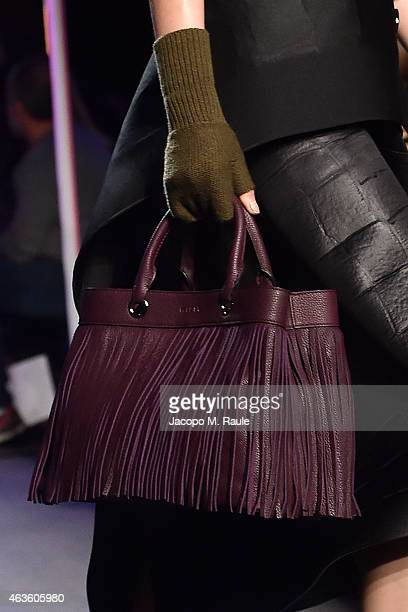 Model walks the runway during Milly By Michelle Smith during during MercedesBenz Fashion Week Fall 2015 at ArtBeam on February 16 2015 in New York...