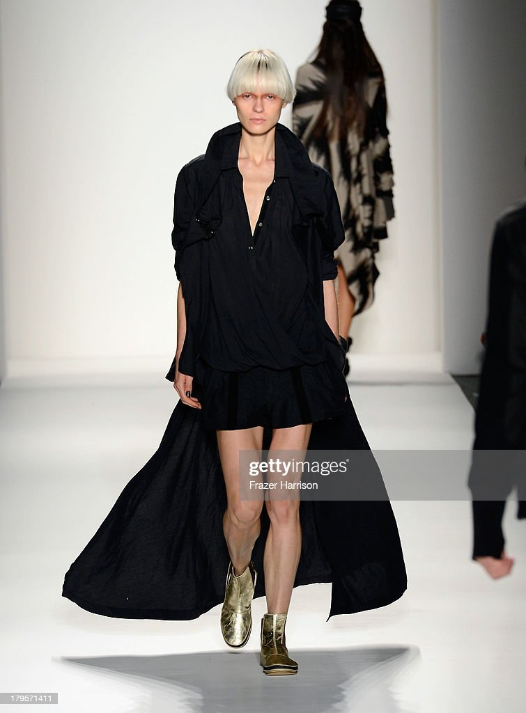 A model walks the runway during Nicholas K Spring 2014 fashion show at Mercedes-Benz Fashion Week Spring 2014 - Official Coverage - Best Of Runway Day 1 on September 5, 2013 in New York City.