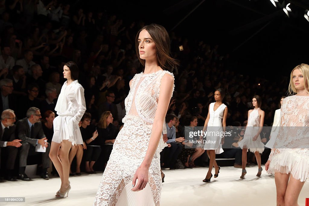 A model walks the runway during Nina Ricci show as part of the Paris Fashion Week Womenswear Spring/Summer 2014 on September 26, 2013 in Paris, France.