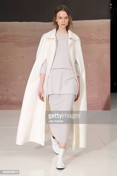 A model walks the runway during Organic By John Patrick on February 5 2014 in New York City