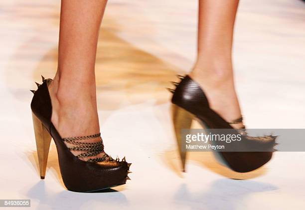 A model walks the runway during Payless at Christian Siriano 2009 Fashion Show at MercedesBenz Fashion Week in New York February 19 2009