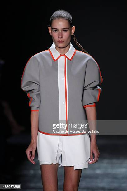A model walks the runway during Public School show as a part of Spring 2016 New York Fashion Week The Shows the on September 13 2015 in New York City