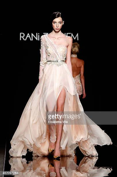 A model walks the runway during Rani Zakhem F/W 20142015 International Haute Couture colletion fashion show as part of AltaRoma AltaModa Fashion Week...