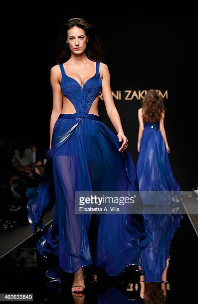 A model walks the runway during Rani Zakhem S/S 2015 International Haute Couture colletion fashion show as part of AltaRoma AltaModa Fashion Week at...