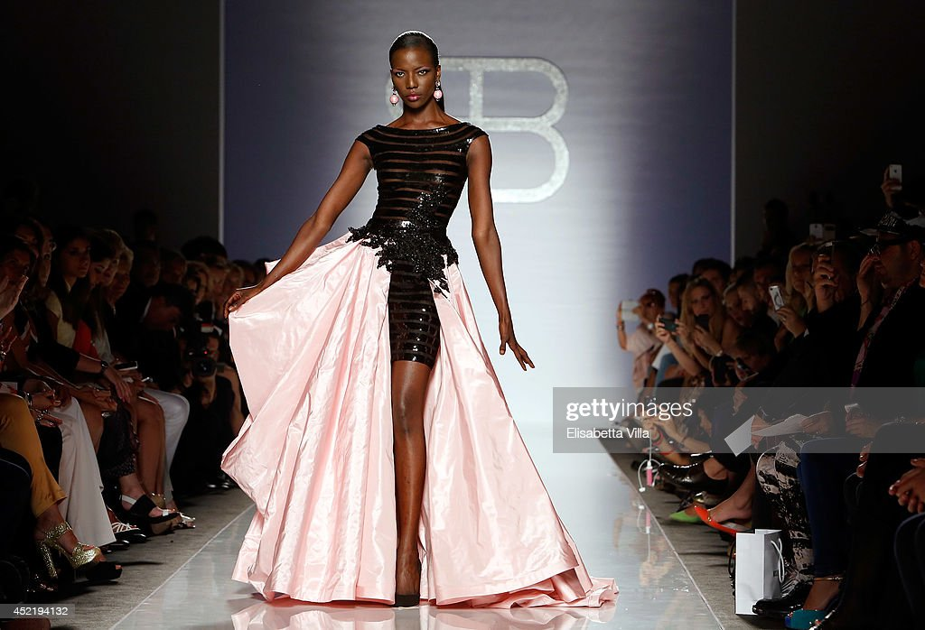 A model walks the runway during Renato Balestra F/W 201415 Italian Haute Couture colletion fashion show as part of AltaRoma AltaModa Fashion Week at...