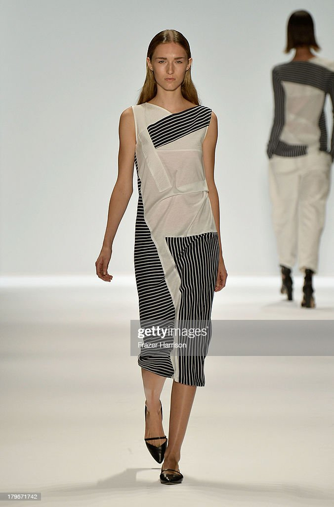 A model walks the runway during Richard Chai Spring 2014 fashion show at Mercedes-Benz Fashion Week Spring 2014 - Official Coverage - Best Of Runway Day 1 on September 5, 2013 in New York City.