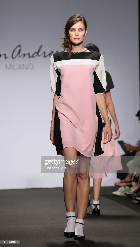 A model walks the runway during San Andres Milano S/S 2014 Haute Couture collection fashion show as part of AltaRoma AltaModa Fashion Week at Santo Spirito In Sassia on July 8, 2013 in Rome, Italy.