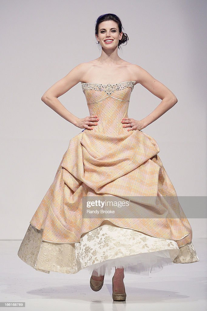 A Model walks the runway during the 2013 From Scotland With Love Charity Fashion Show at Stage 48 on April 8, 2013 in New York City.