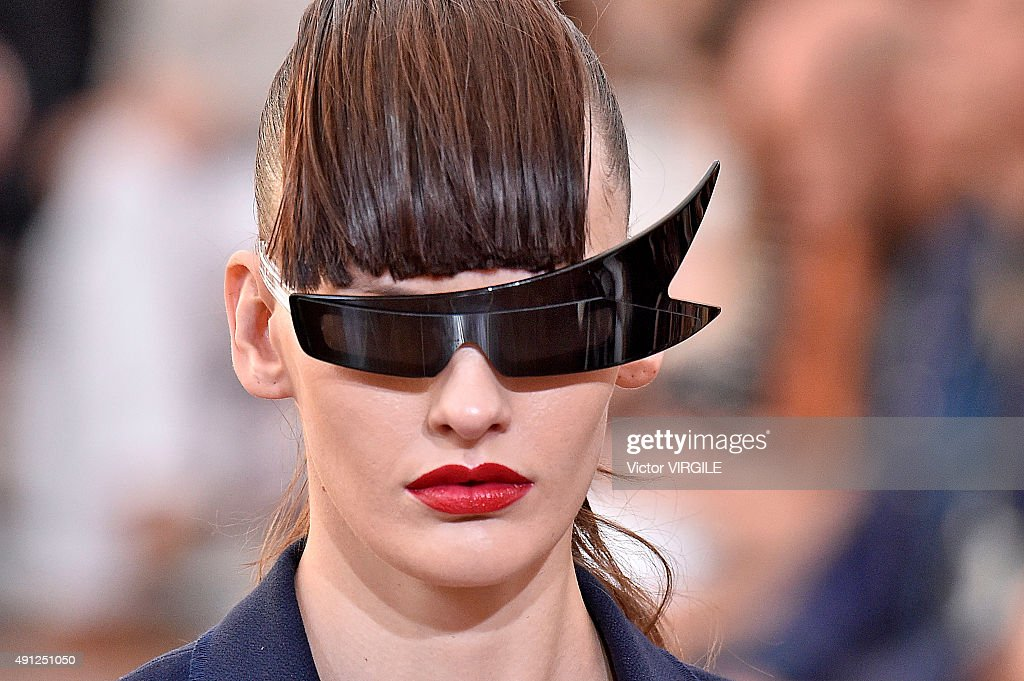 A model walks the runway during the Acne Studios Ready to Wear show as part of the Paris Fashion Week Womenswear Spring/Summer 2016 on October 3 2015...