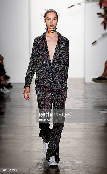A model walks the runway during the Adam Selman Spring 2016 show during MADE Fashion Week at Milk Studios on September 10 2015 in New York City