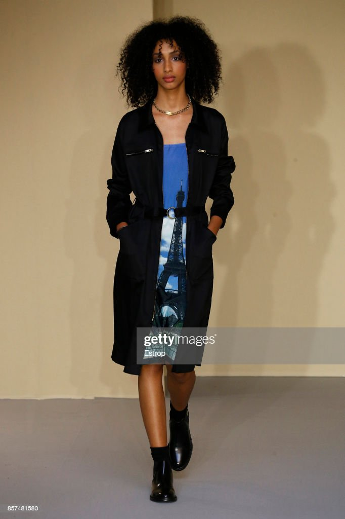 model-walks-the-runway-during-the-agnes-b-paris-show-as-part-of-the-picture-id857481580