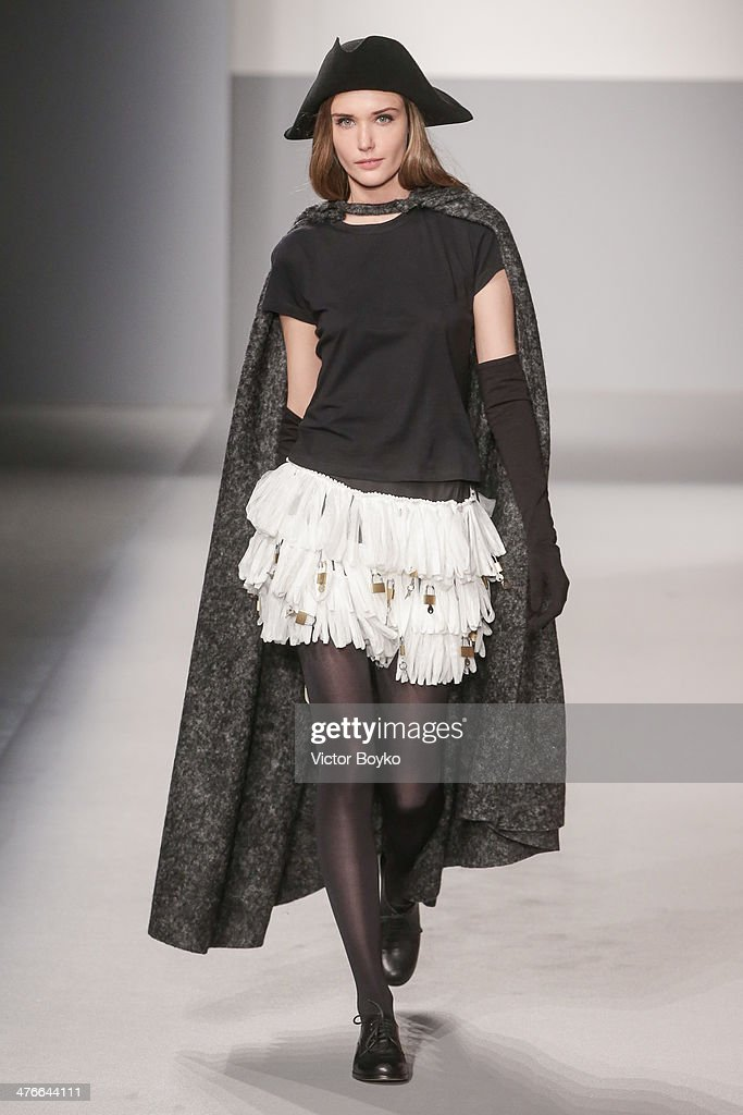 A model walks the runway during the Agnes B show as part of the Paris Fashion Week Womenswear Fall/Winter 2014-2015 on March 4, 2014 in Paris, France.