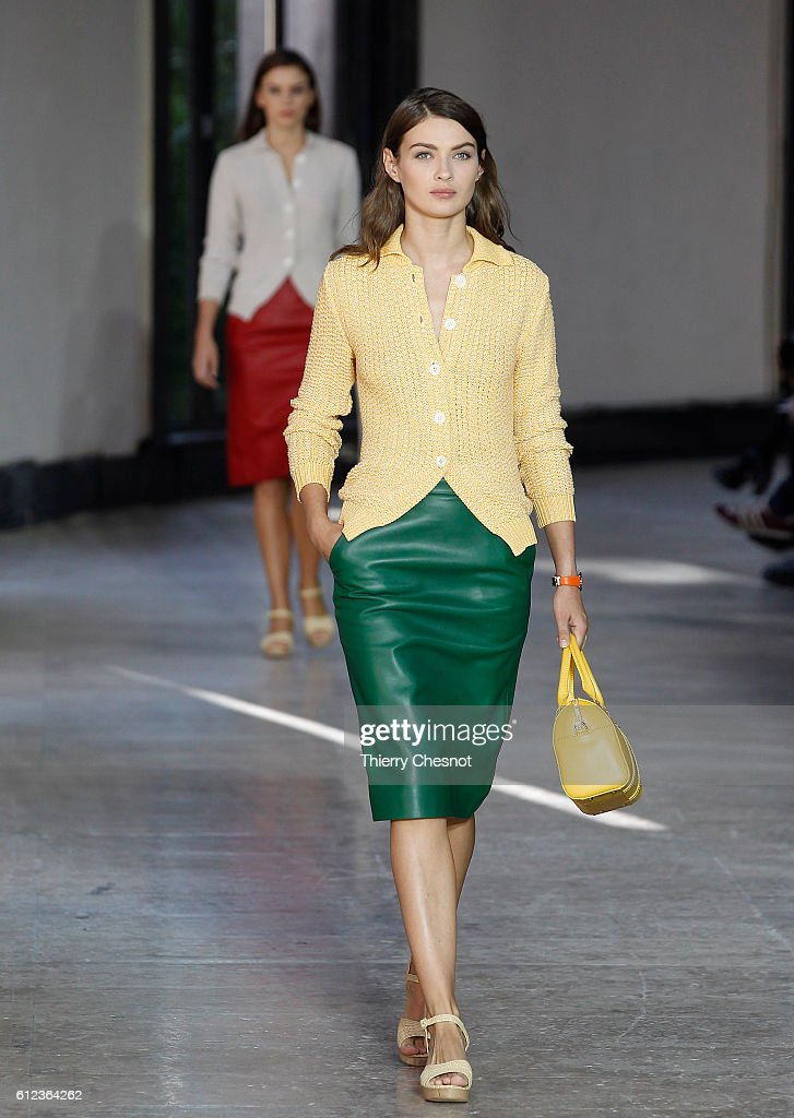 model-walks-the-runway-during-the-agnes-b-show-as-part-of-the-paris-picture-id612364262