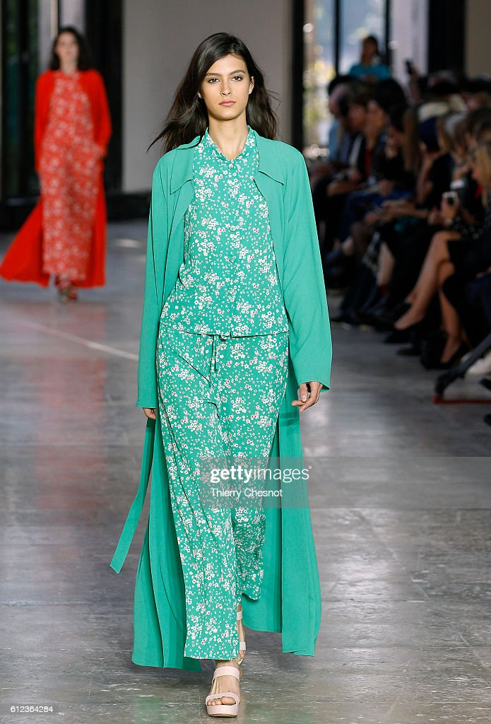 model-walks-the-runway-during-the-agnes-b-show-as-part-of-the-paris-picture-id612364284