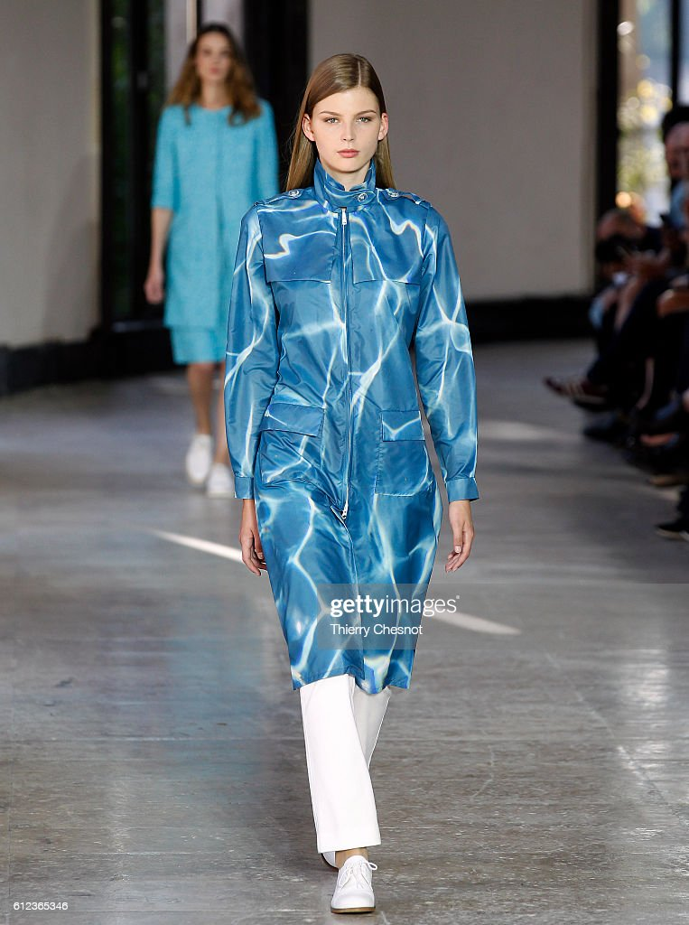model-walks-the-runway-during-the-agnes-b-show-as-part-of-the-paris-picture-id612365346