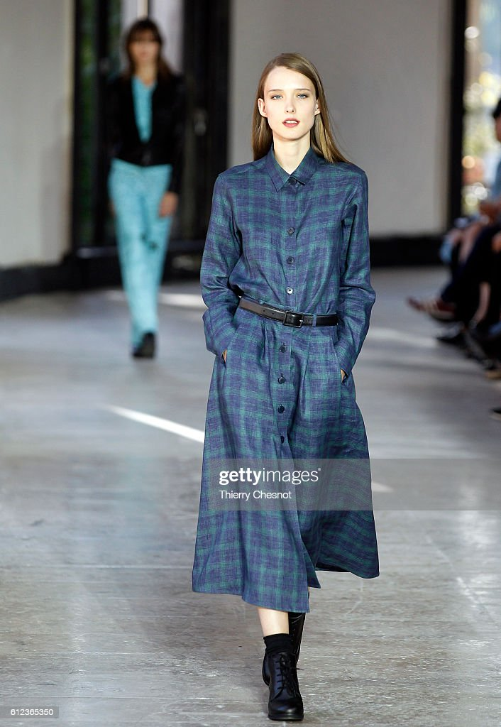 model-walks-the-runway-during-the-agnes-b-show-as-part-of-the-paris-picture-id612365350