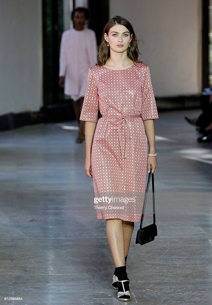 model-walks-the-runway-during-the-agnes-b-show-as-part-of-the-paris-picture-id612365884