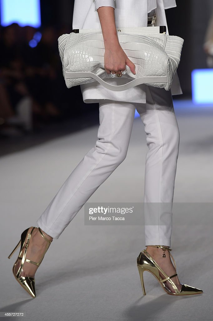 A model walks the runway during the Aigner show as a part of Milan Fashion Week Womenswear Spring/Summer 2015 on September 19 2014 in Milan Italy