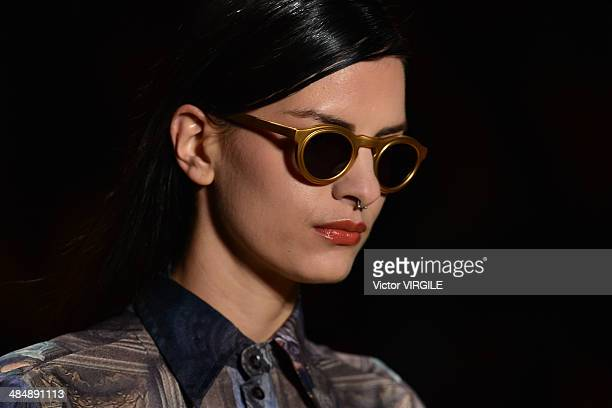 A model walks the runway during the Alessa Fashion show at Rio de Janeiro Fashion Week Spring Summer 2014/2015 on April 8 2014 in Rio de Janeiro...