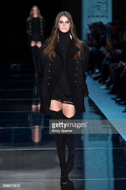 A model walks the runway during the Alexandre Vauthier Spring Summer 2016 show as part of Paris Fashion Week on January 26 2016 in Paris France