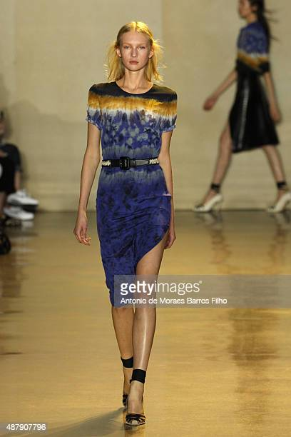 A model walks the runway during the Altuzarra show as a part of Spring 2016 New York Fashion Week on September 12 2015 in New York City
