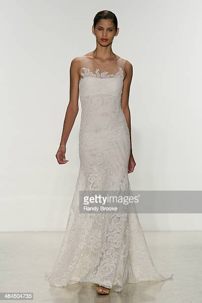 A model walks the runway during the Amsale Spring 2015 Bridal collection show at EZ Studios on April 12 2014 in New York City