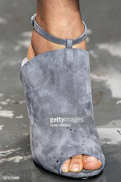 A model walks the runway during the Andrea Marques show as part of the Rio de Janeiro Fashion Week Fall/Winter 2014 on November 9 2013 in Rio de...