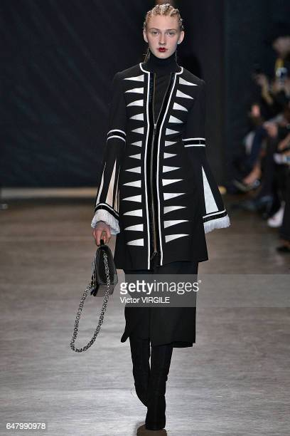 A model walks the runway during the Andrew GN fashion show as part of Paris Fashion Week Womenswear Fall/Winter 2017/2018 on March 3 2017 in Paris...