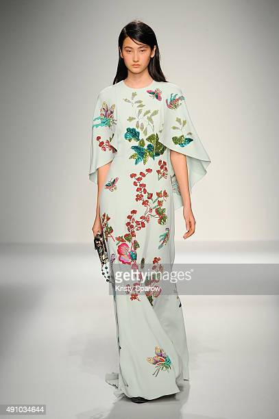 A model walks the runway during the Andrew GN show as part of Paris Fashion Week Womenswear Spring/Summer 2016 on October 2 2015 in Paris France