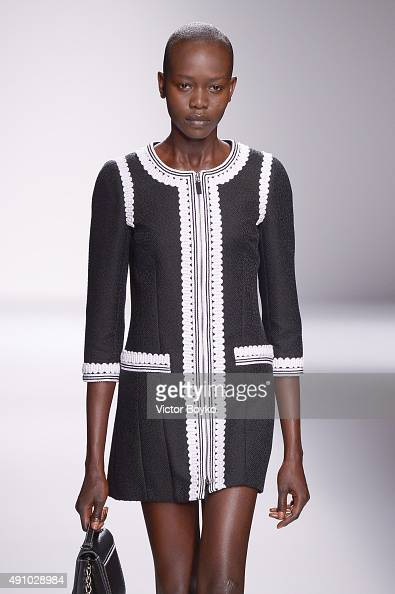 A model walks the runway during the Andrew GN show as part of the Paris Fashion Week Womenswear Spring/Summer 2016 on October 2 2015 in Paris France