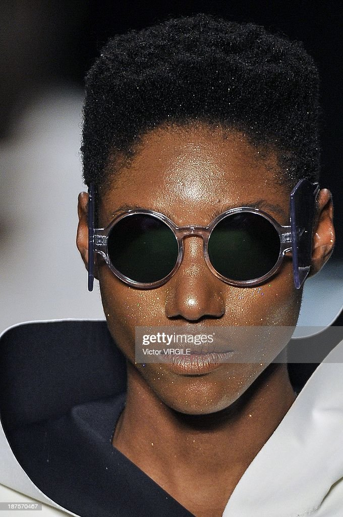 A model walks the runway during the Auslander show as part of the Rio de Janeiro Fashion Week Fall/Winter 2014 on November 9, 2013 in Rio de Janeiro, Brazil.