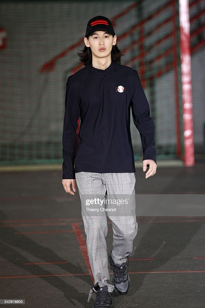 A model walks the runway during the Avoc Menswear Spring/Summer 2017 show as part of Paris Fashion Week on June 25, 2016 in Paris, France.