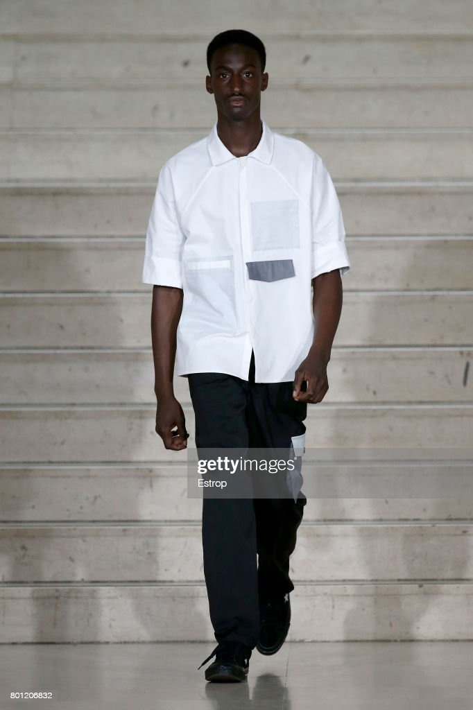 model-walks-the-runway-during-the-avoc-menswear-springsummer-2018-as-picture-id801206832