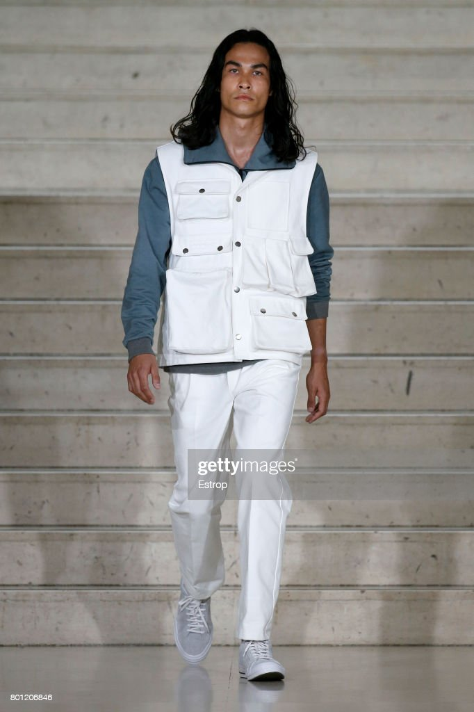 model-walks-the-runway-during-the-avoc-menswear-springsummer-2018-as-picture-id801206846