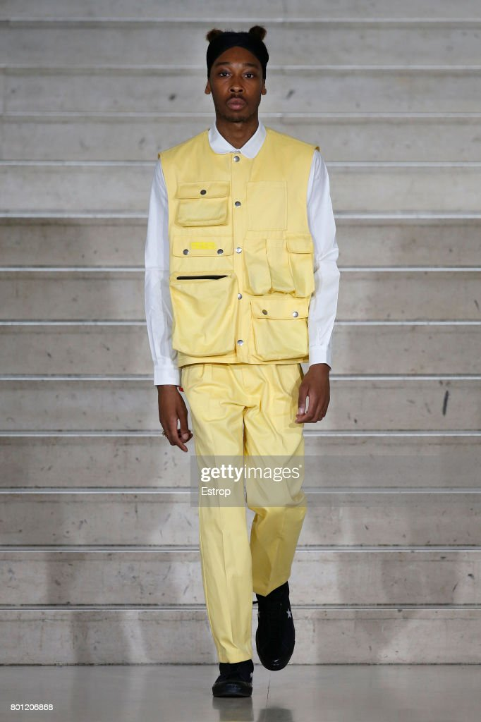 model-walks-the-runway-during-the-avoc-menswear-springsummer-2018-as-picture-id801206868