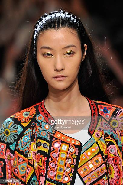 A model walks the runway during the Barbara Bui show as part of Paris Fashion Week Womenswear Spring/Summer 2015 on September 25 2014 in Paris France