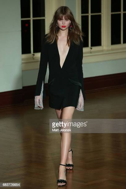 A model walks the runway during the Bec Bridge show at MercedesBenz Fashion Week Resort 18 Collections at Seven at David Jones on May 16 2017 in...