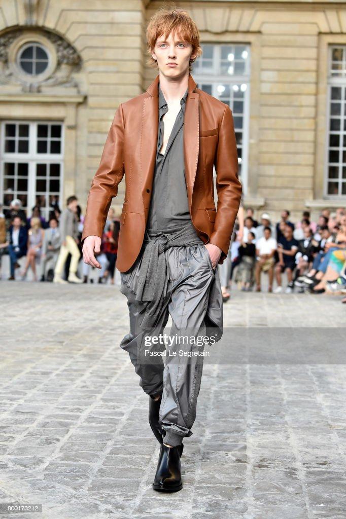 model-walks-the-runway-during-the-berluti-menswear-springsummer-2018-picture-id800173212