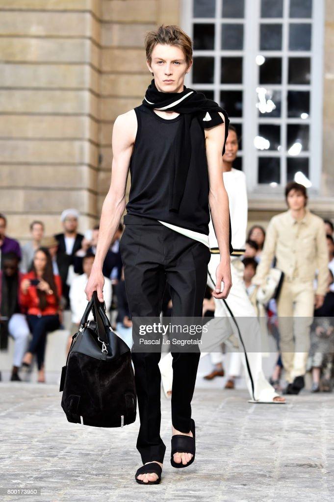 model-walks-the-runway-during-the-berluti-menswear-springsummer-2018-picture-id800173950