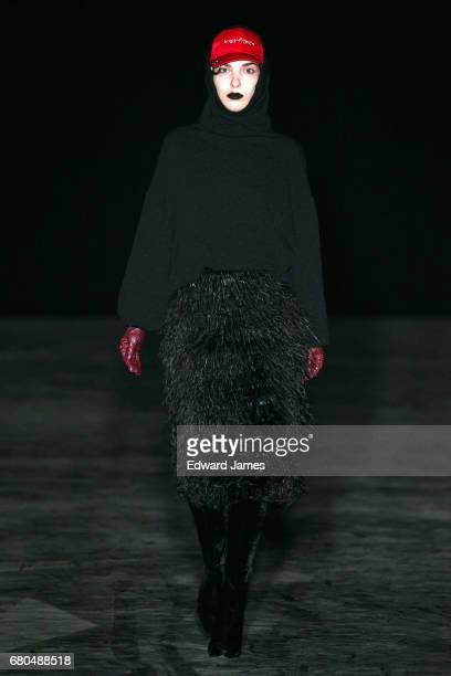 A model walks the runway during the Bessarion Fall/Winter 2017/2018 collection fashion show during MercedesBenz Fashion Week Tbilisi on May 8 2017 in...