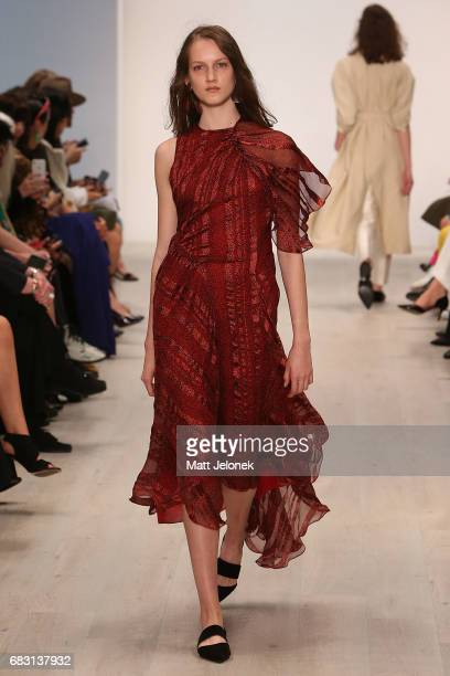 A model walks the runway during the Bianca Spender show at MercedesBenz Fashion Week Resort 18 Collections at Carriageworks on May 15 2017 in Sydney...