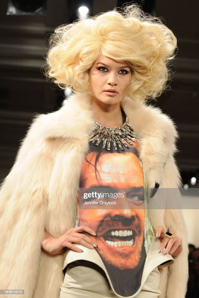 A model walks the runway during The Blonds Fall 2013 MADE Fashion Show at Milk Studios on February 12, 2013 in New York City.
