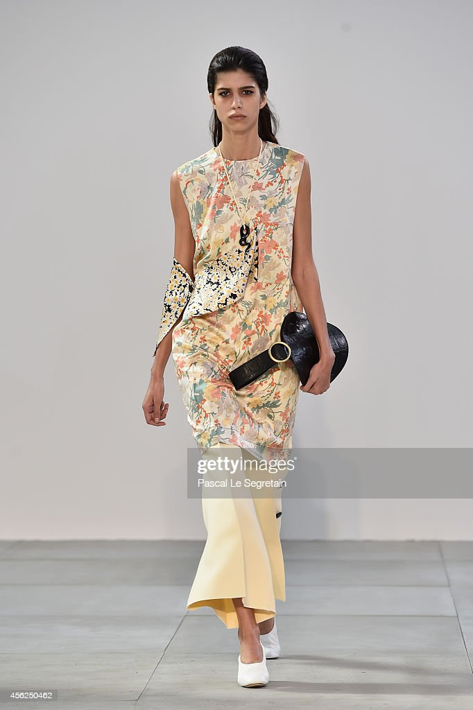 A model walks the runway during the Celine show as part of the Paris Fashion Week Womenswear Spring/Summer 2015 on September 28 2014 in Paris France