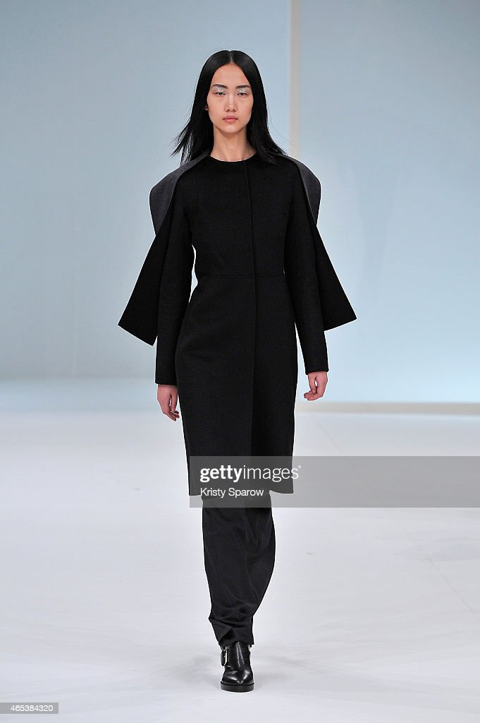 A model walks the runway during the Chalayan show as part of Paris Fashion Week Womenswear Fall/Winter 2015/2016 at Palais Des Beaux Arts on March 6, 2015 in Paris, France.