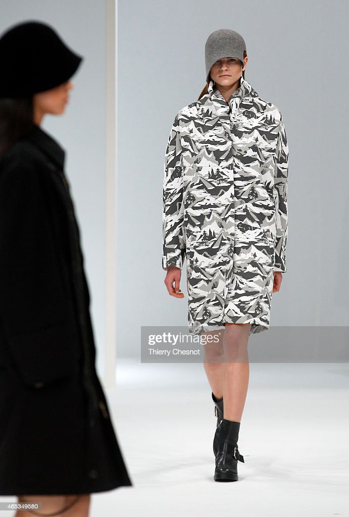 A model walks the runway during the Chalayan show as part of the Paris Fashion Week Womenswear Fall/Winter 2015/2016 on March 6, 2015 in Paris, France.