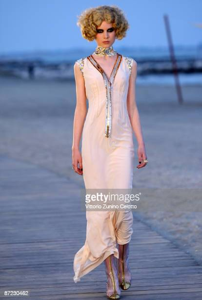 A model walks the runway during the Chanel Cruise 2010 Fashion Show on May 14 2009 in Venice Italy