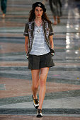 A model walks the runway during the Chanel Cruise Collection 2016/2017 on May 3 2016 in Havana Cuba