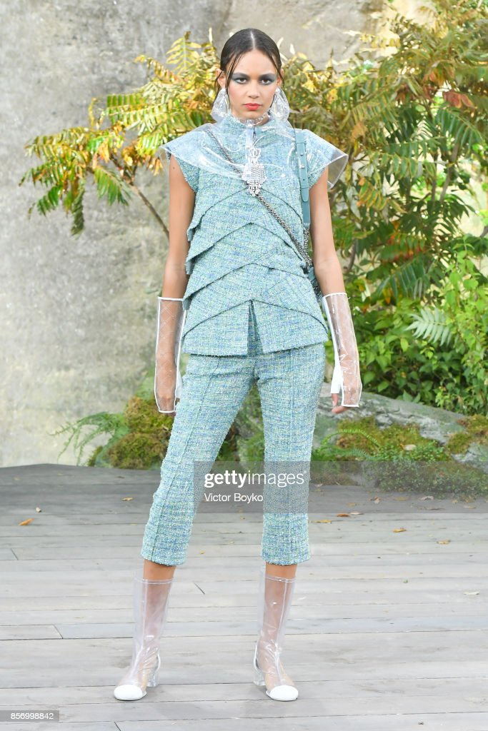 model-walks-the-runway-during-the-chanel-paris-show-as-part-of-the-picture-id856998842